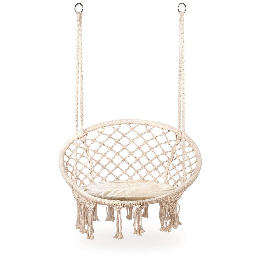 Fotel wiszący huśtawka ogrodowa z poduszką