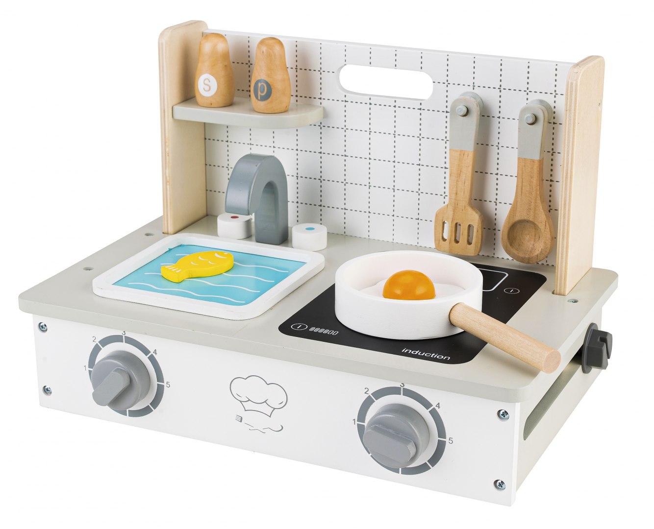 Image of Drewniana kuchenka z akcesoriami mini kuchnia