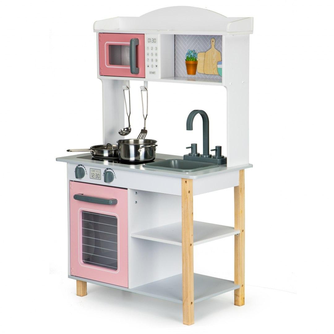 Image of Drewniana kuchnia dla dzieci + metalowe akcesoria