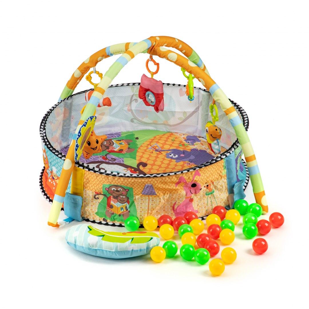 Mata edukacyjna 3w1 kojec basen zabawki piłeczki