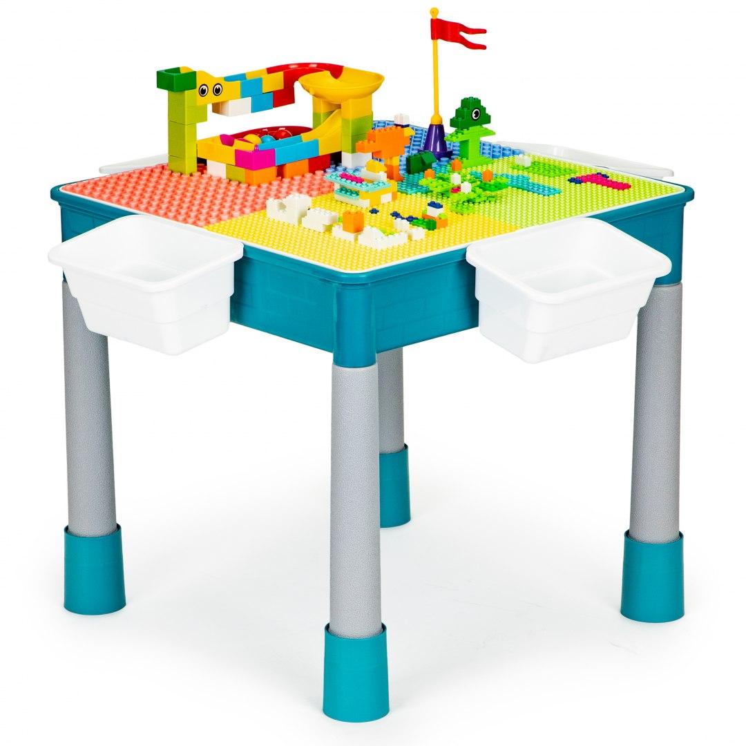 Image of Stolik do zabawy krzesełko klocki dla dzieci