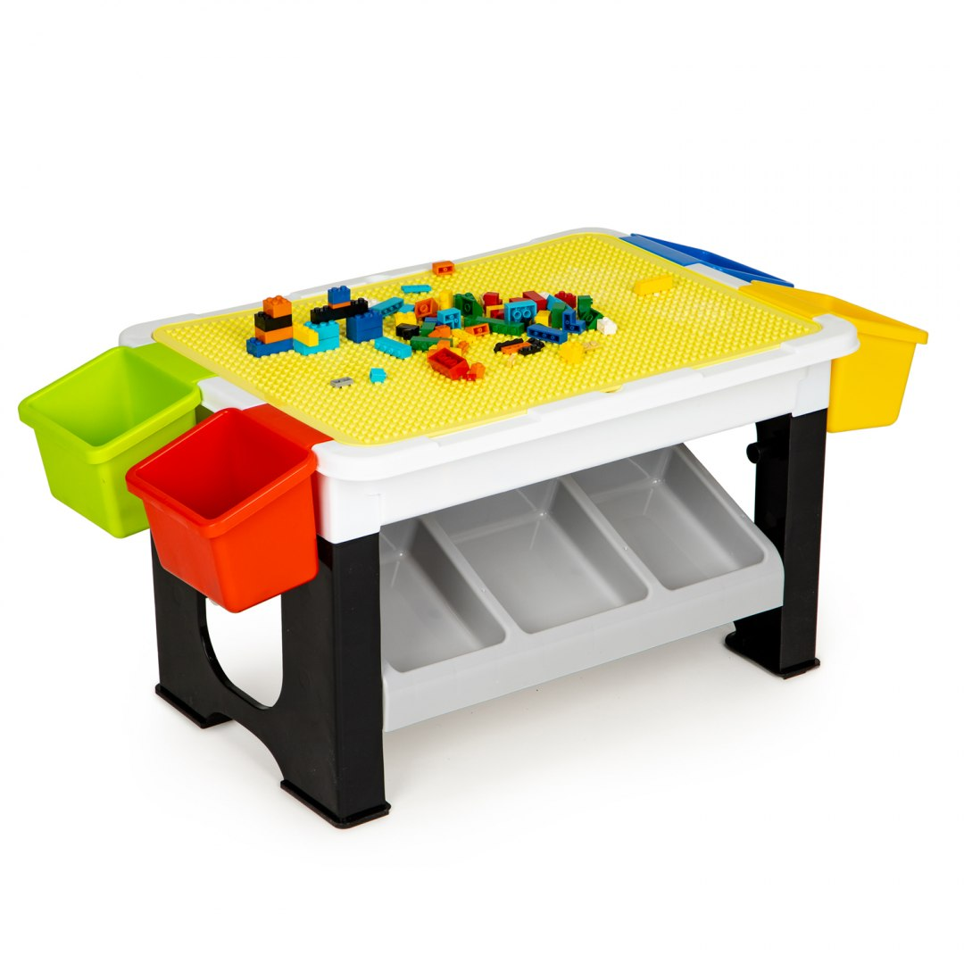 Image of Stolik do zabawy układanie klocków dla dzieci