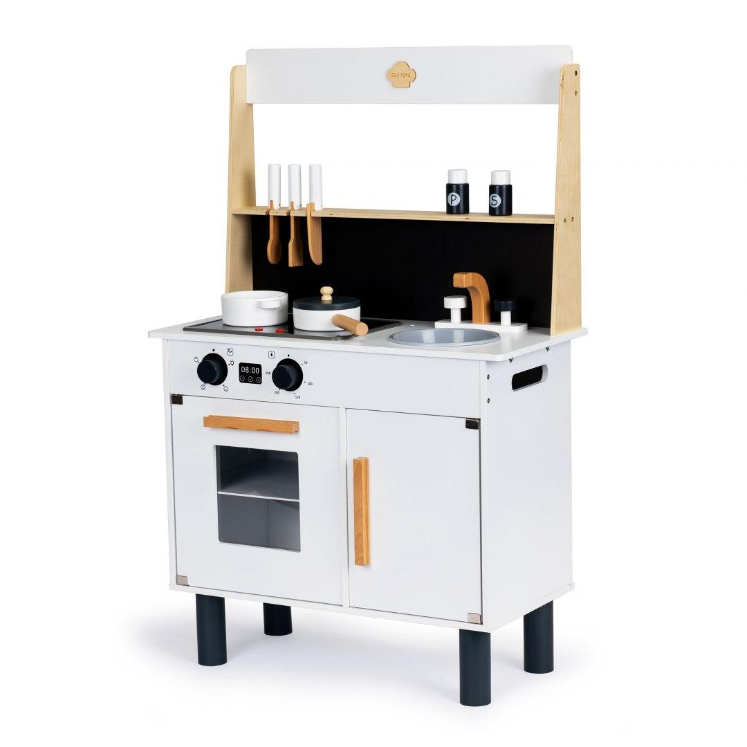 Image of Drewniana kuchnia dla dzieci dźwięki efekty led
