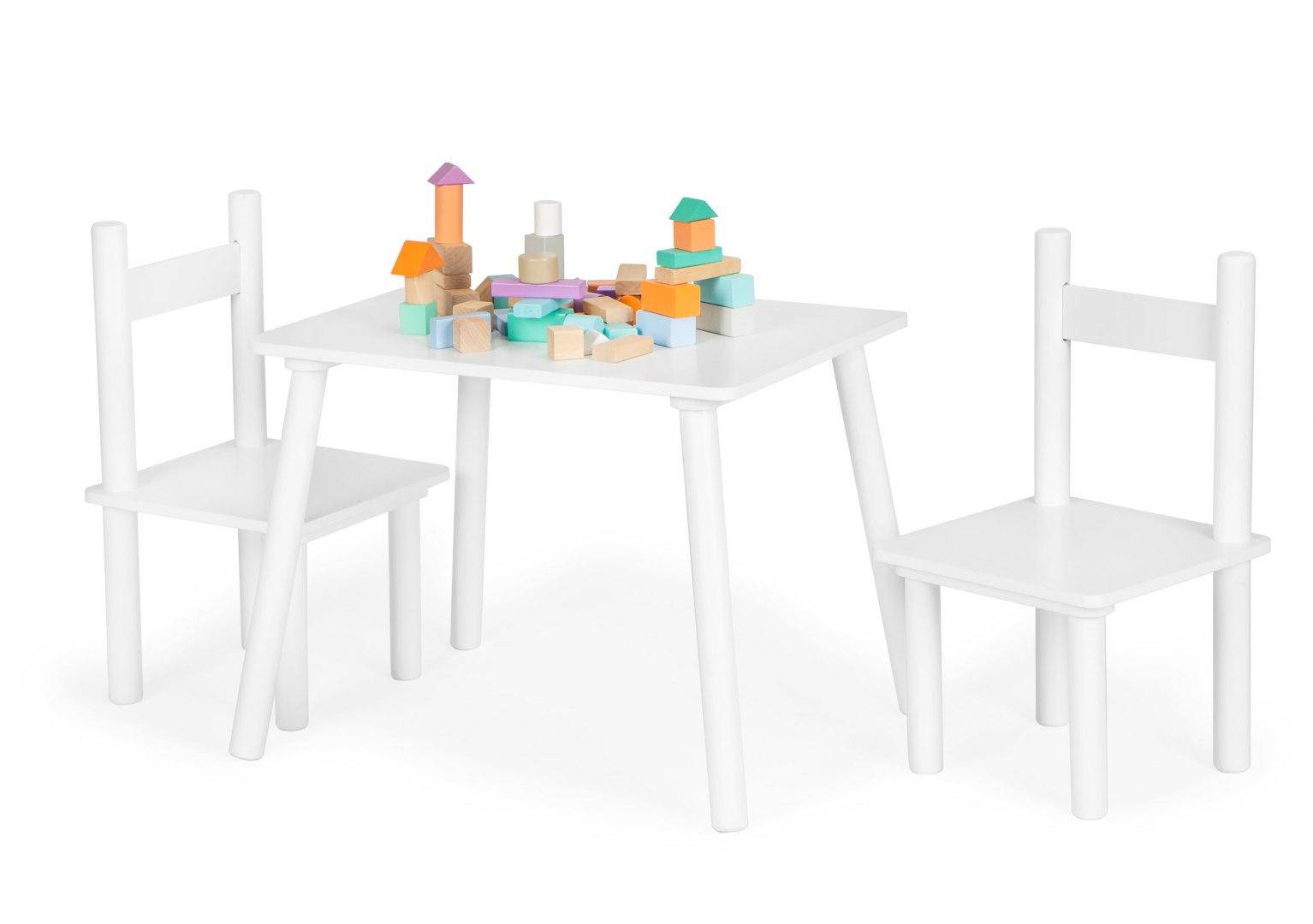 Image of Stół stolik +2 krzesła meble dla dzieci komplet