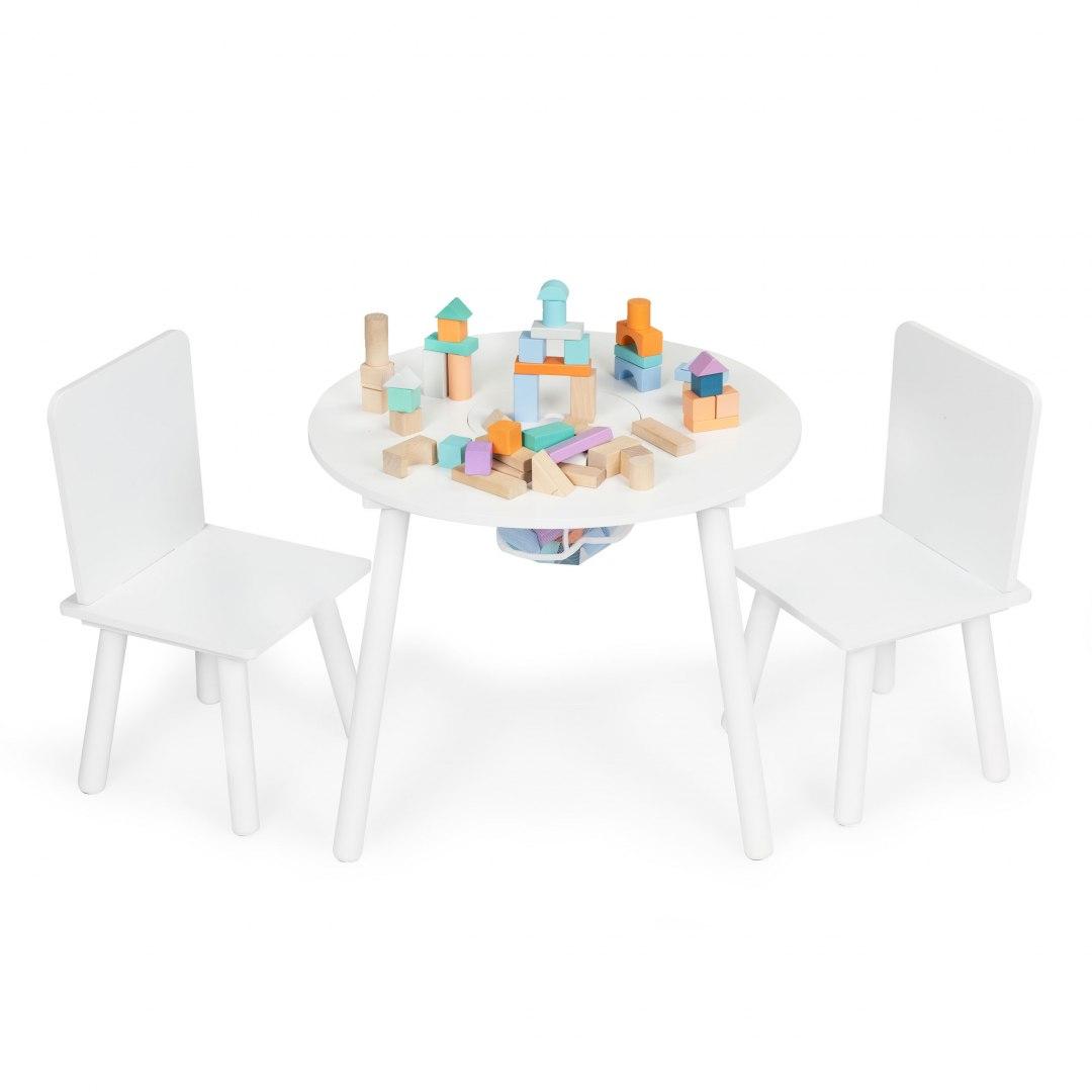 Image of Stół stolik +2 krzesła meble dla dzieci komplet Ecotoys